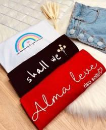 Título do anúncio: Tshirts/blusas femininas em variadas estampas