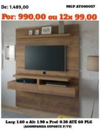 Painel de televisão até 60 Plg-Painel de TV- Sala de Estar