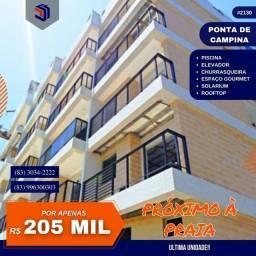 Apartamento para Venda em Cabedelo, Ponta de Campina, 1 dormitório, 1 banheiro, 1 vaga