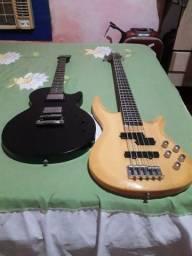 Guitarra Epiphone U.S.A e <br>Baixo 5 cor Chelter