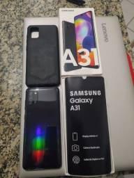 Samsung A31 seminovo com película e capa