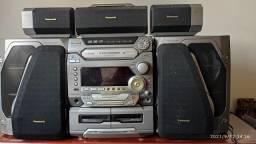 Título do anúncio: Mini System som Panasonic AK57 5 caixas