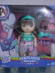 Título do anúncio: Boneca Baby Alive Penteados Difererentes Morena