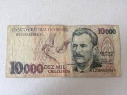 Cédula Antiga de 10.000 Dez Mil Cruzeiros