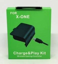 Bateria e Cabo Carregador Controle Xbox One Charge Play Kit Novo na Caixa
