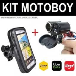 Kit para Motoboy ( Suporte + Carregador ) Novo