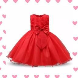 Lindo Vestido Infantil Luxo Vermelho