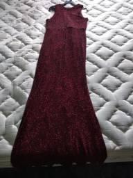 Vestido Longo de festa - Tecido Lurex Novo