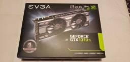 Placa De Vídeo Evga Geforce Gtx 1070ti 8gb
