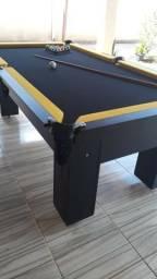 Mesa Semi oficial Cor Preta Tecido Preto e Borda Amarela Mod. TCAO8469