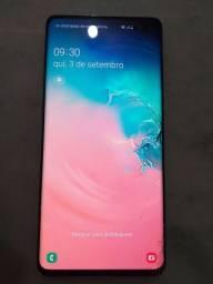 Samsung s10+ 128gb branco prisma trincado