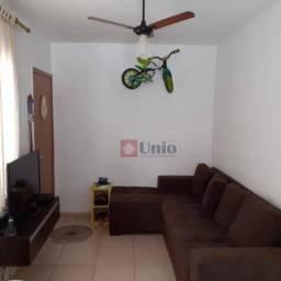 Apartamento com 2 dormitórios à venda, 46 m² por R$ 145.000,00 - Dois Córregos - Piracicab