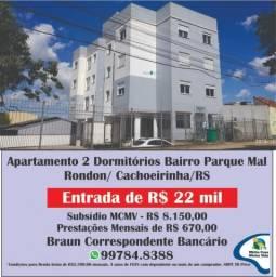 Apartamento à venda com 2 dormitórios em Vila silveira martins, Cachoeirinha cod:1388