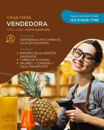 Vendedor(a) para comércio de alimentos