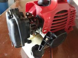 Motor de moto roçadeira 2t marca Azen 52cc com embreagem