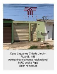 Casa 2 qtos Cidade Jardim com desconto