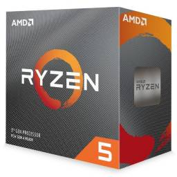 Processador Am4 Amd Ryzen 5 3600, 3.6Ghz, 32Mb Cache, 4.2GHz Max Turbo, Sem Vídeo Integrad