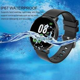 Relógio SmartWatch S8 Tela de Vidro Temperado À Prova D'água 2 Pulseiras (Android e iOS