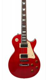 Guitarra Tagima Les Paul TLP Flamed TR Transparent Red com Case<br><br>