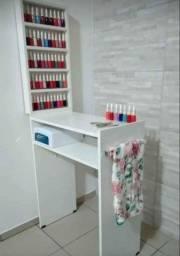 Título do anúncio: Mesa para manicure com expositor de esmalte