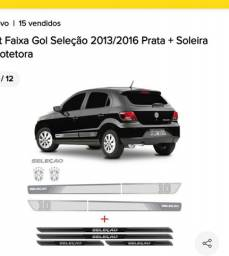 KIT FAIXA E SOLEIRA GOL G5 e G6