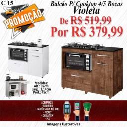 Título do anúncio: BALCÃO P/ COOKTOP VIOLETA - 4/5 BOCAS