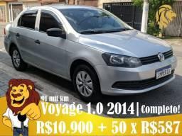 novo voyage 1.0 2014 | completo - lindo! R$10.900 + 50 x R$587