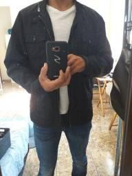 Jaqueta masculina tan M cor preta