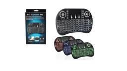 Mini Teclado Controle S/ Fio Touch Led (Novo)