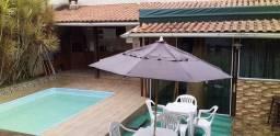 Casa para temporada em Saquarema com piscina e churrasqueira.