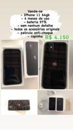 IPhone 11 64gb acessórios originais