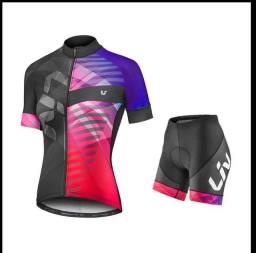 Conjunto para ciclismo feminino novos G