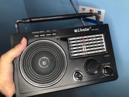 Título do anúncio: Caixa de som Radio AM/FM bluetooth Pen drive potente portátil