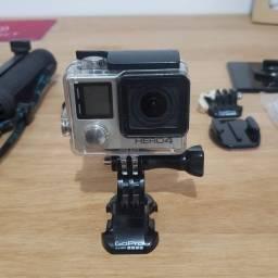 Título do anúncio: Câmera ação Gopro  Hero 4 silver