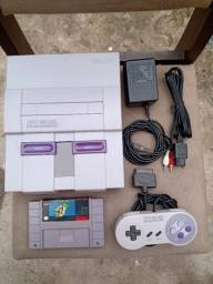 Super Nintendo Fat completo + Super Mário