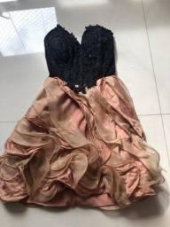 Título do anúncio: Vestido de Festa Princesa- tam P- tomara que caia