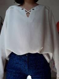 Calça skinny e blusa semi nova