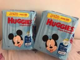 Título do anúncio: Fraldas Huggies XXG 66 unidades