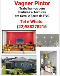 Título do anúncio: Pinturas Texturas Forros De pvc