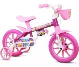 Título do anúncio: Bicicleta Aro 12 Infantil Menina Nathor Flower 2 A 5 Anos - Nova
