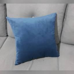 Almofadas em Veludo - Azul Marinho