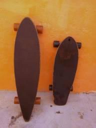 Long board com capacetes