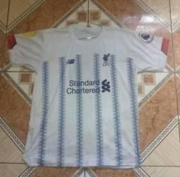 Camiseta do Liverpool FC Branca e Azul G