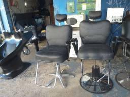 Cadeira de barbeiro hidráulica reclinável