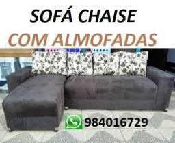 Receba No Mesmo Dia Lindo Sofa Chaise Com Almofadas com Otimo Preço 799,00