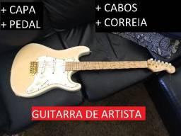 Guitarra Stratocaster-De Luthier-De artista-Com brindes-Pva do Leste-MT