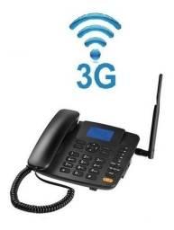 Celular telefone Rural Fixo Quadriband 3G Função Modem 3G