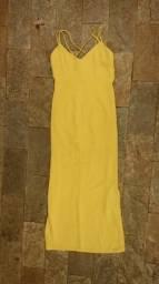 Vestido longo de festa amarelo desapego