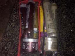 Kits de Cremes: Shampoo, condicionado, máscara e creme de pentear