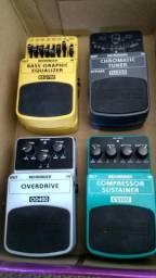 Pedal Behringer - Pack com 4 Pedais Afinador/bass eq/overdrive/compressor